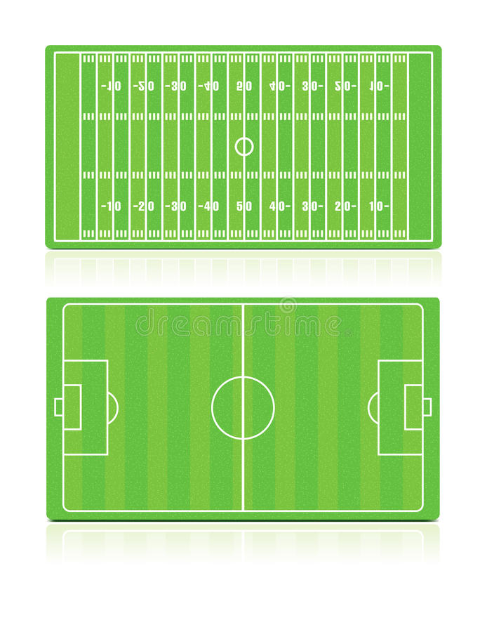 Download Sport Fields Set With Grass Stock Vector - Image: 24085895
