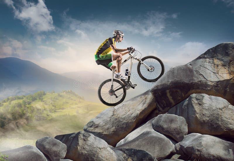 Sport fietser stock fotografie