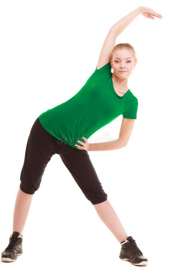 Download Sport Fille Flexible De Forme Physique Faisant étirant L'exercice Image stock - Image du ajustement, formation: 45361493
