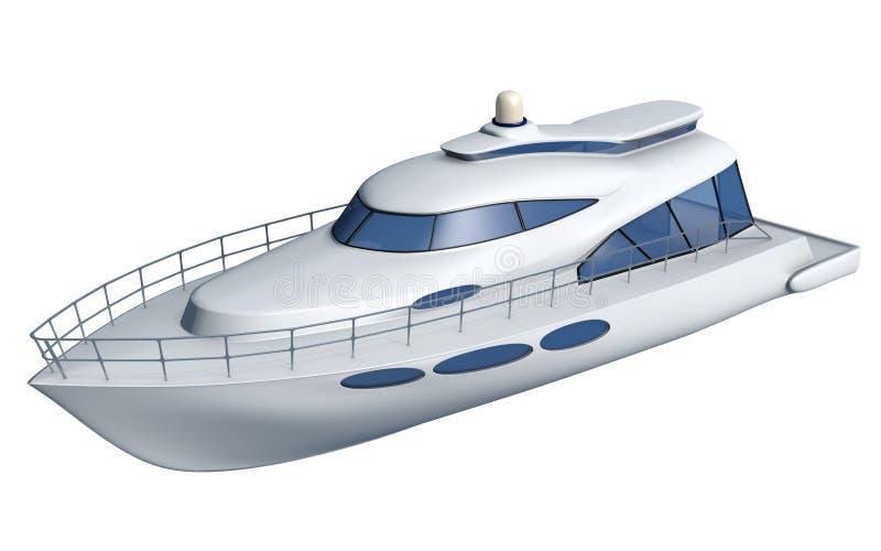 Sport Fishing Boat. 3d illustration vector illustration