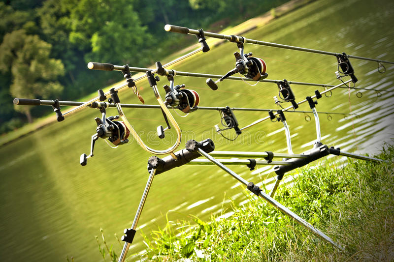 Download Sport fishing equipment stock image. Image of three, angling - 20192875