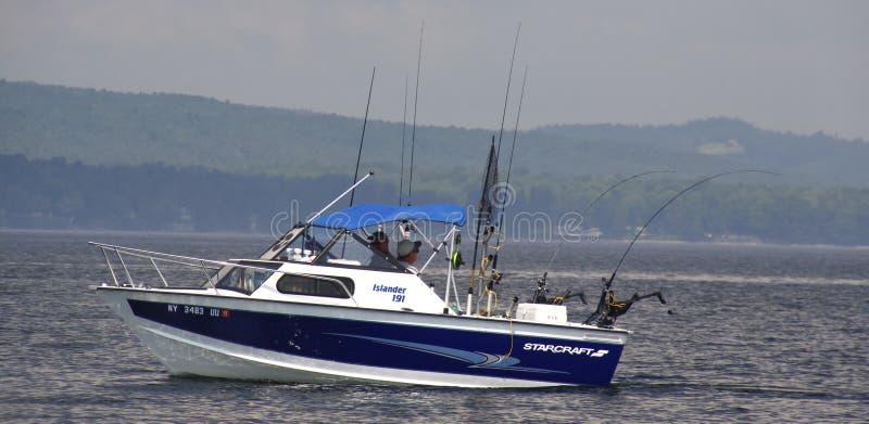 Sport Fishing Lake Champlain royalty free stock photos