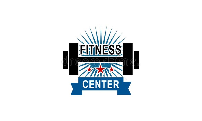 Sport Fitness club creative concepts. Gym club logotype. Vector royalty free illustration