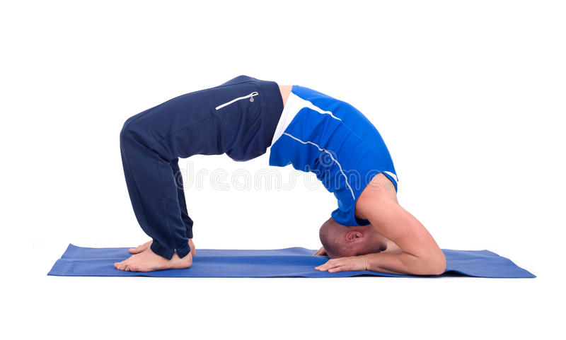 Download Sport Fitness Man Doing Yoga Exercise Stock Image - Image: 35878783