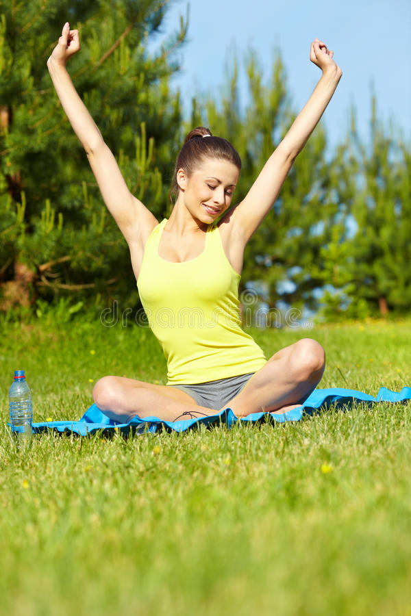 Download Sport Fitness Model Outside On Summer / Stock Photo - Image: 25125216