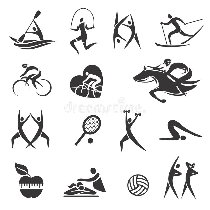 Sport_Fitness_symbols illustration stock