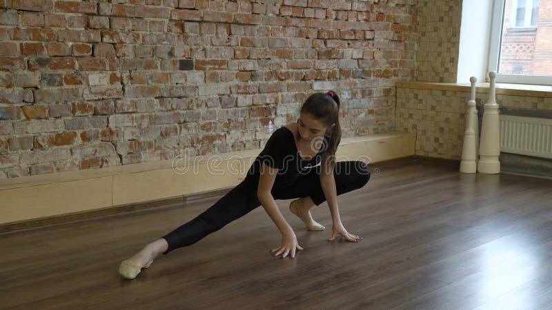 Sport fitness yoga gymnast lifestyle girl warm up royalty free stock photos
