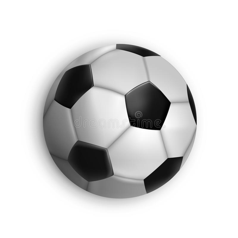 Sport game event soccer ball isolated vector illustration