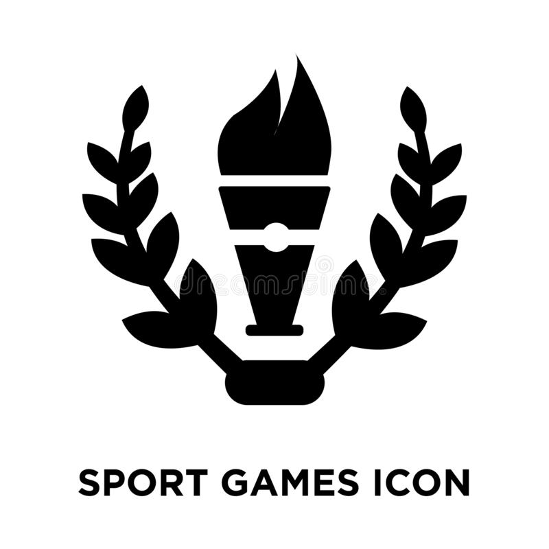 Sport Games icon vector isolated on white background, logo concept of Sport Games sign on transparent background, black filled. Sport Games icon vector isolated royalty free illustration