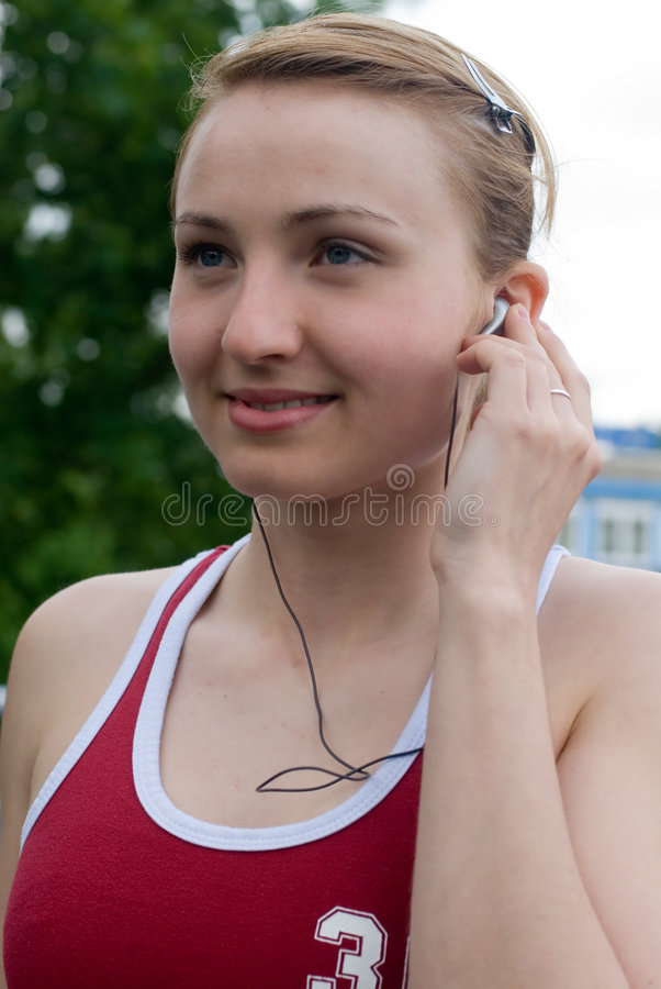 Sport girl royalty free stock image