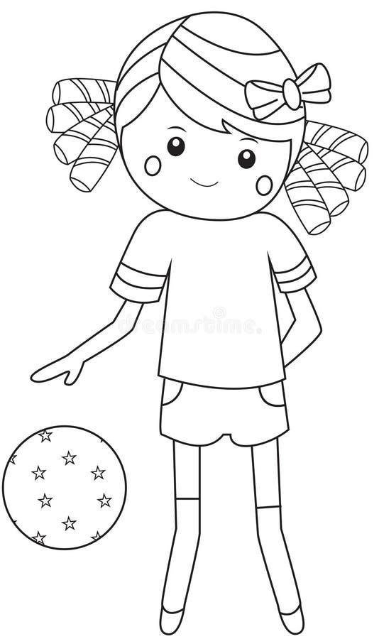 Sport Girl stock illustration