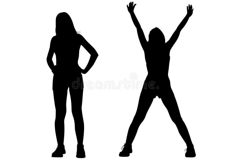 sport girl silhouette vector stock vector illustration of exercise rh dreamstime com silhouette vector art free silhouette vector images