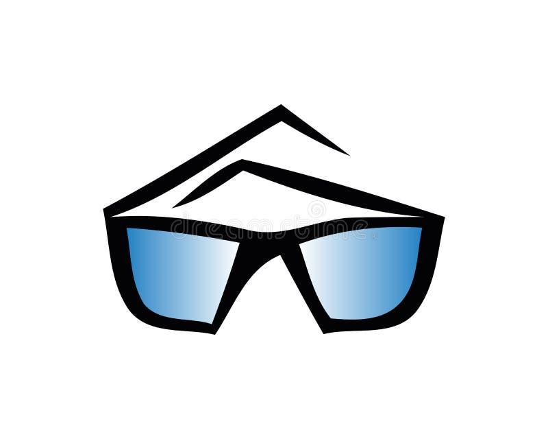 Sport glasses mockup. Realistic illustration of sport glasses vector mockup for web design isolated on white background royalty free illustration