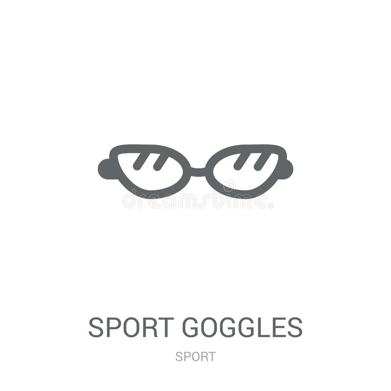 Sport Goggles icon. Trendy Sport Goggles logo concept on white b stock illustration