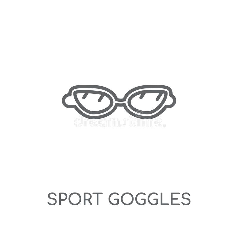 Sport Goggles linear icon. Modern outline Sport Goggles logo con stock illustration