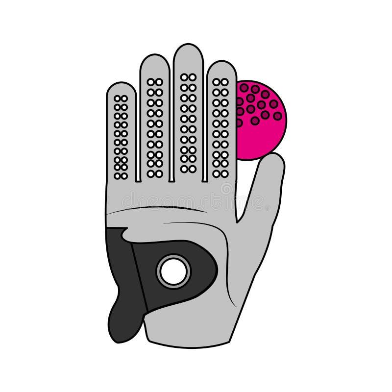 Sport golf activity. Sport golf glove and ball activity vector illustration royalty free illustration