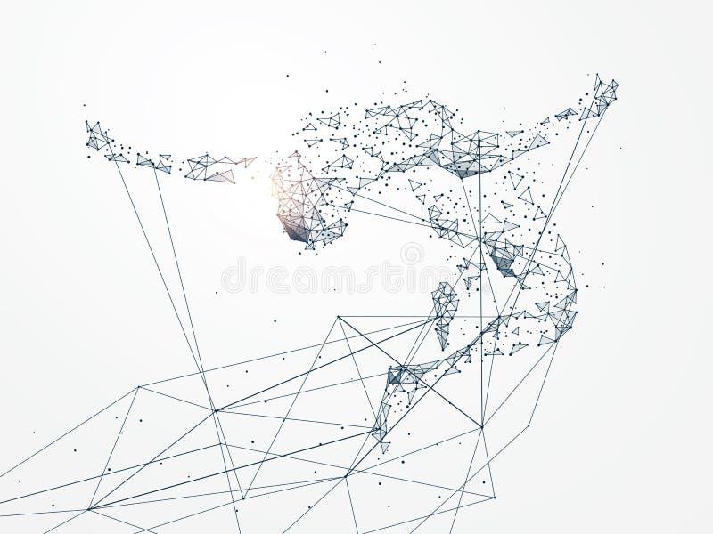 Sport grafika, sieć związek obracający w royalty ilustracja