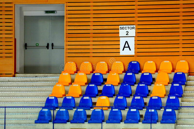 Sport Hall for Kids Judo Cup 2016. The National contest Kids Judo Cup 2016 in Brasov royalty free stock photo
