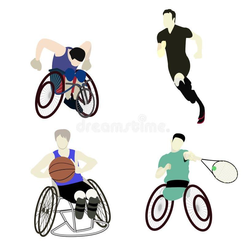 Sport handicapé d'homme illustration de vecteur