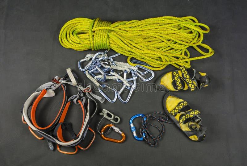Sport het beklimmen - basismateriaal van de klimmer royalty-vrije stock afbeeldingen