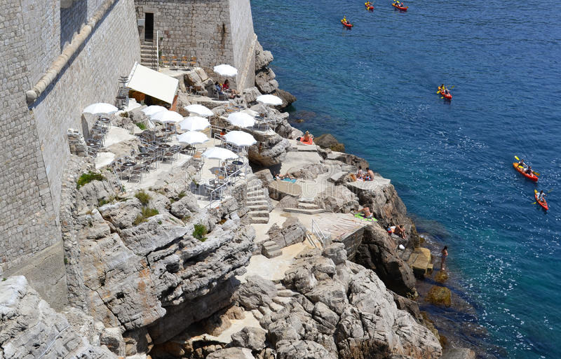 Sport and history (Dubrovnik, Croatia) royalty free stock image
