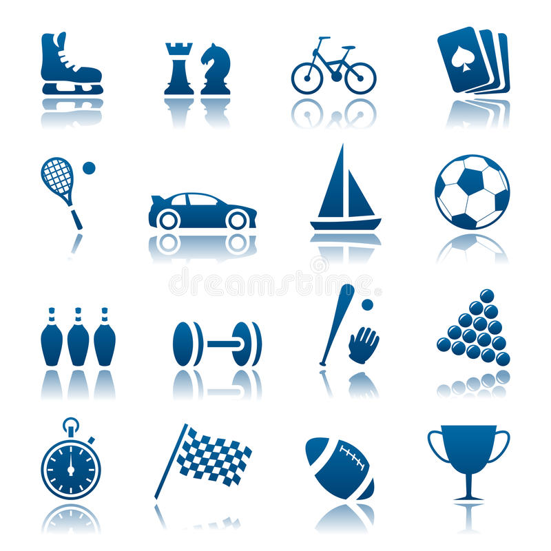 Free Sport & Hobby Icon Set Stock Images - 17529954
