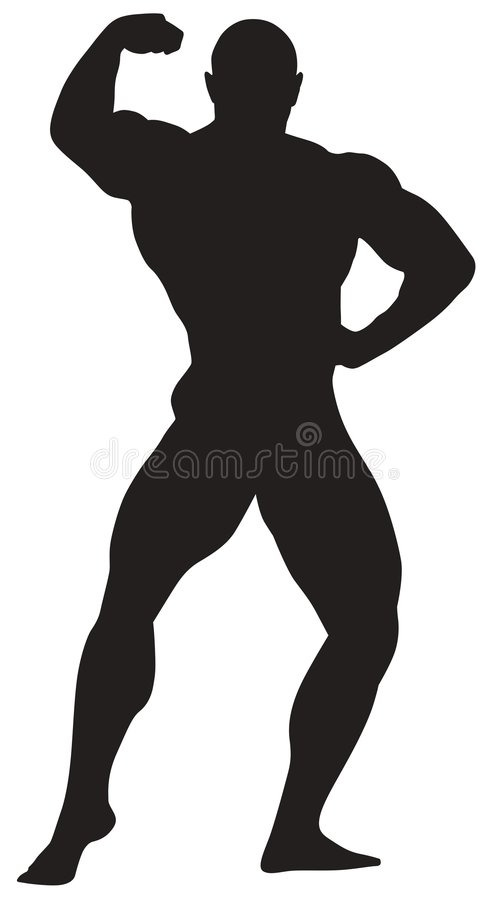 Sport icon of bodybuilding vector illustration