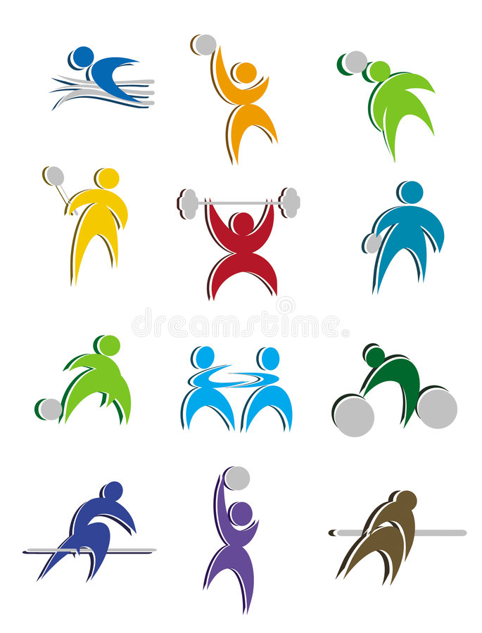 Sport Icon Design stock photos
