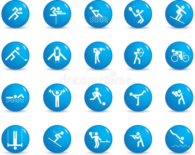 Download Sport icon set stock vector. Image of collections, kicking - 11804039