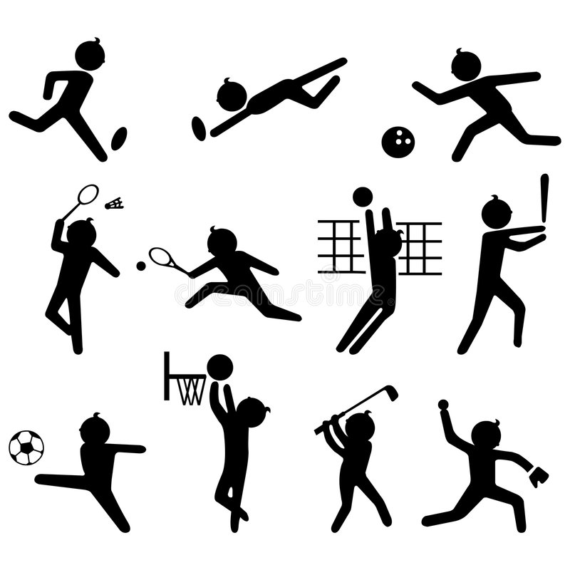 Sport icon set stock photo