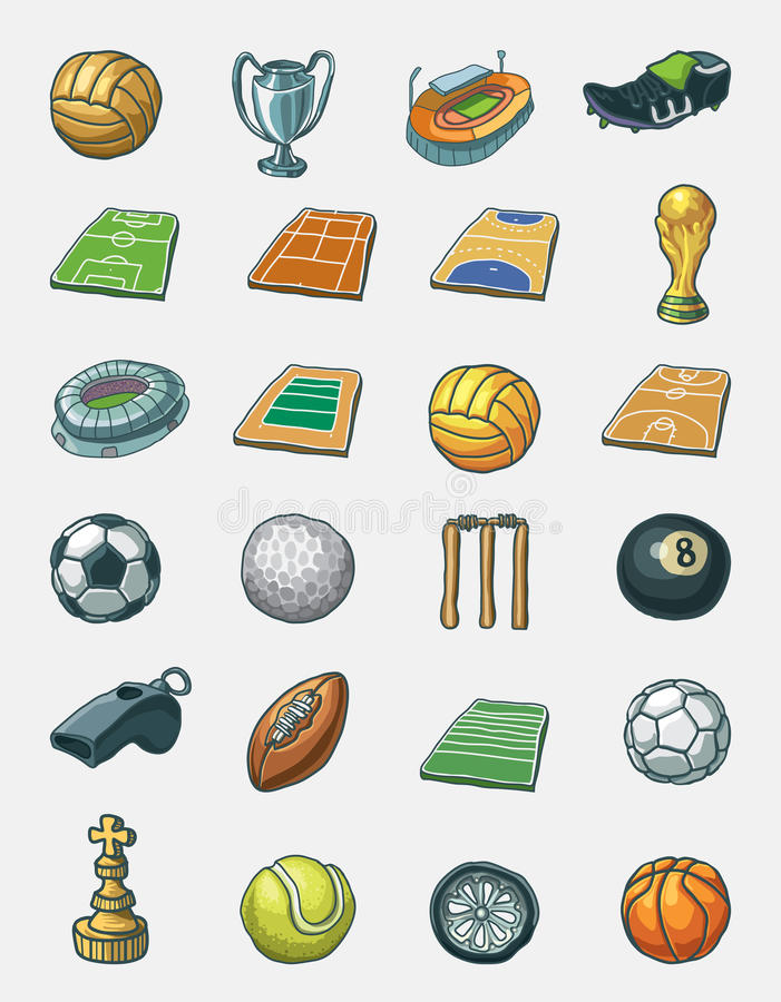 Free Sport Icon Set Stock Images - 20636604