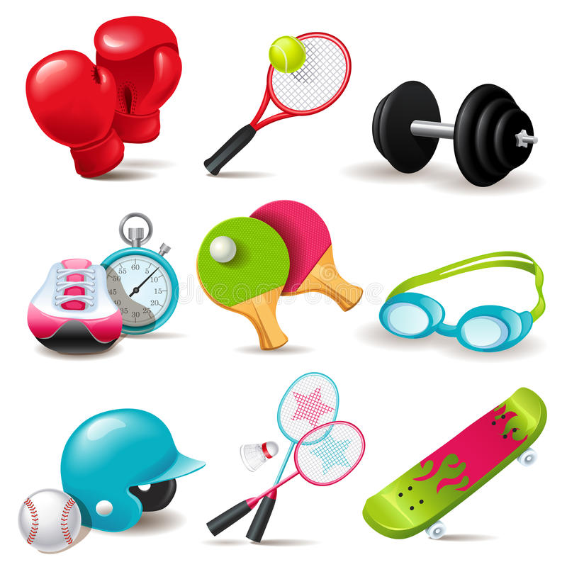 Free Sport Icon Set Stock Photo - 31583430