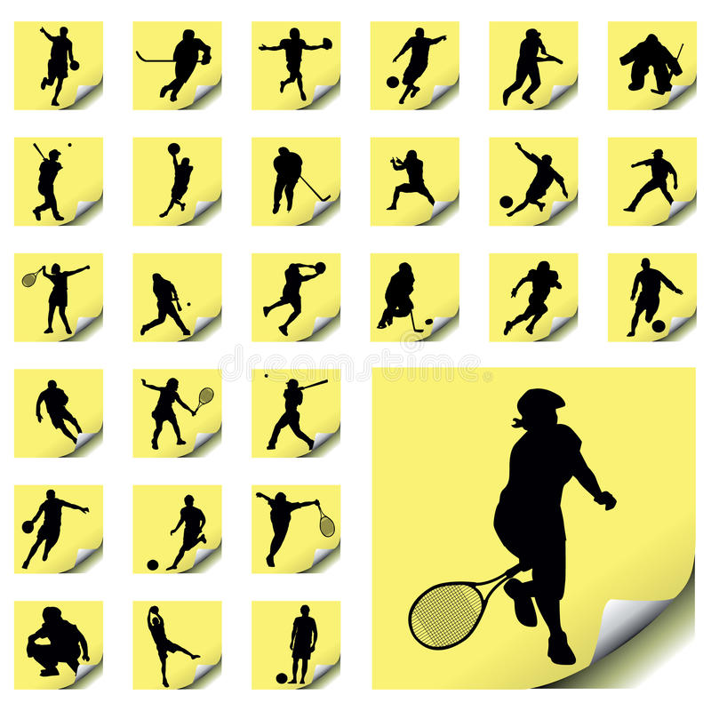 Download Sport Icons stock vector. Image of recreation, icon, post - 10719081