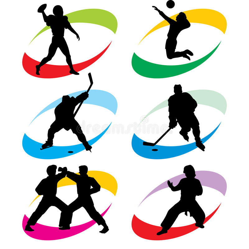 Download Sport icons stock vector. Illustration of icons, volleyball - 14092439