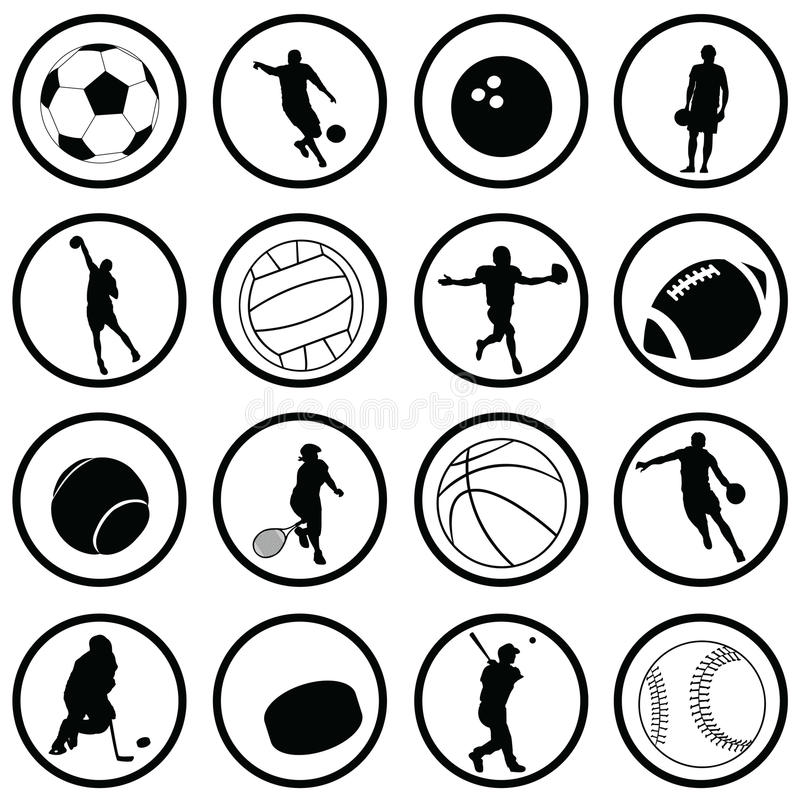 Download Sport Icons stock vector. Illustration of basketball - 15103392