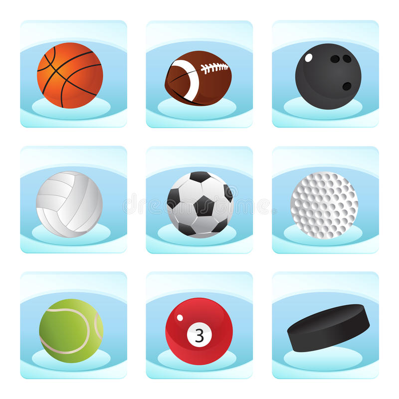 Download Sport icons stock vector. Illustration of basketball - 18683244