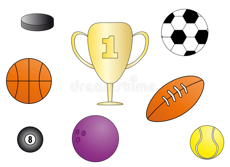 Download Sport icons stock vector. Illustration of first, championship - 8754620