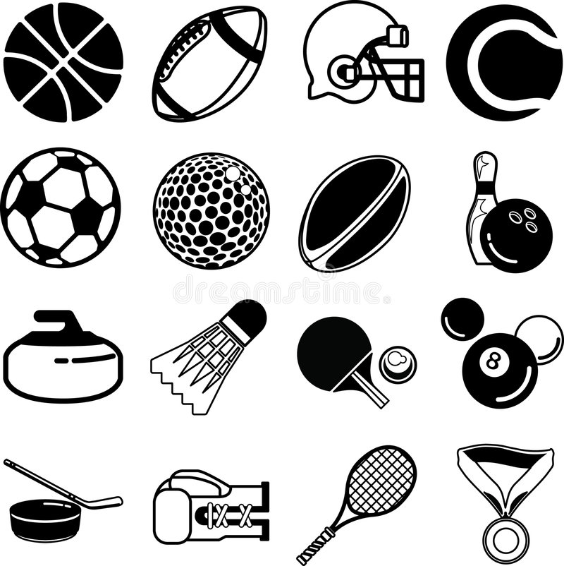 Free Sport Icons Stock Photography - 895802