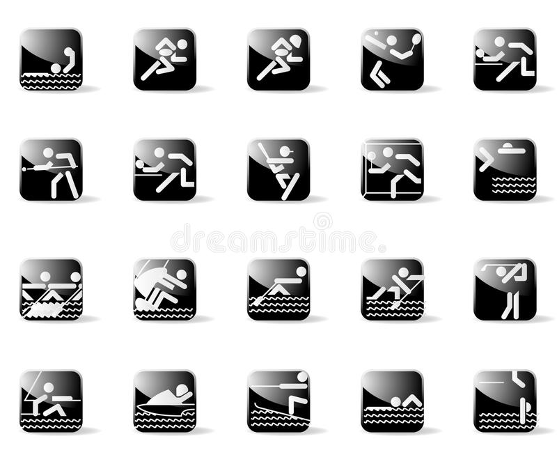 Download Sport Icons stock vector. Illustration of archer, boxer - 9702034