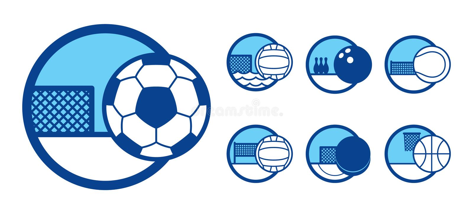 Download Sport icons set stock vector. Image of circle, game, sphere - 4619968