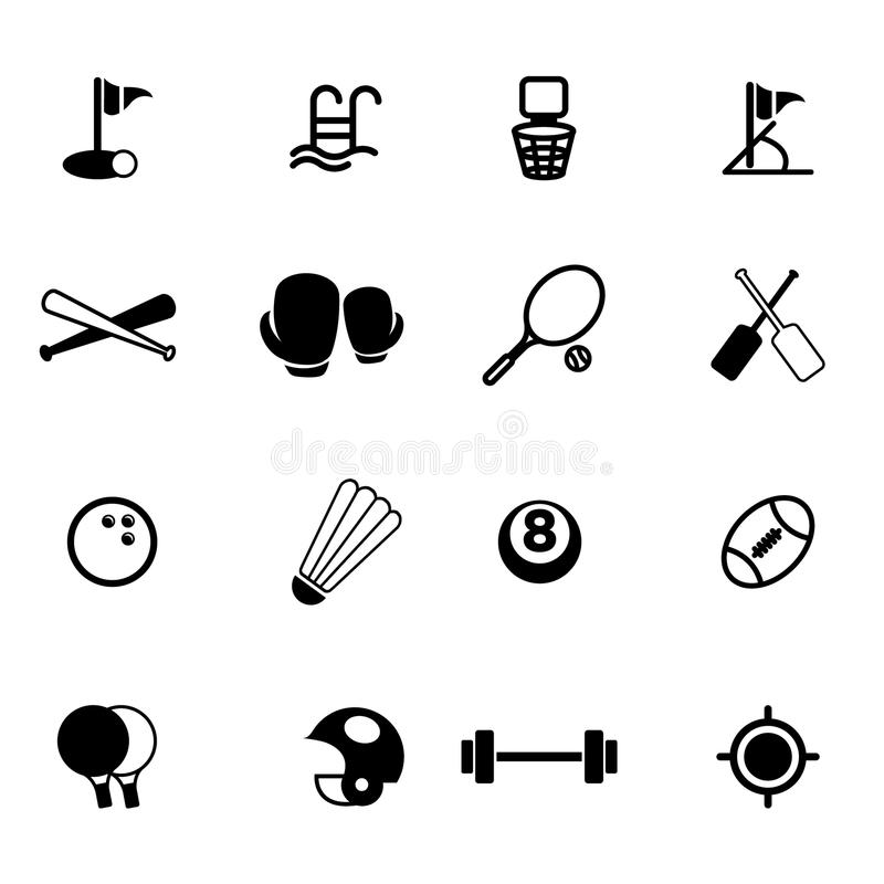 Sport icons set01 royalty free stock images