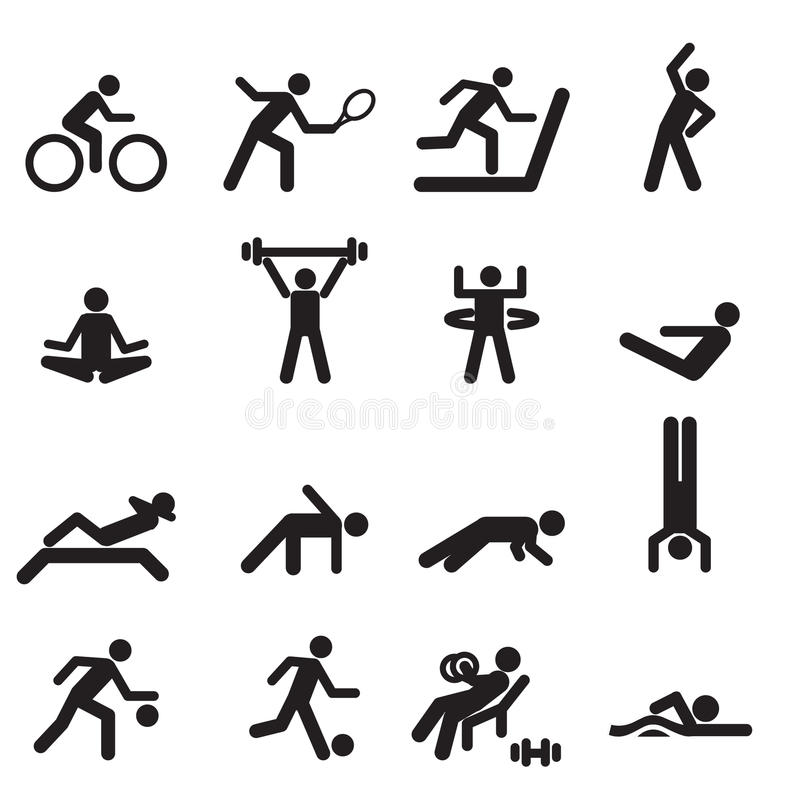 Sport icons set02 stock photos