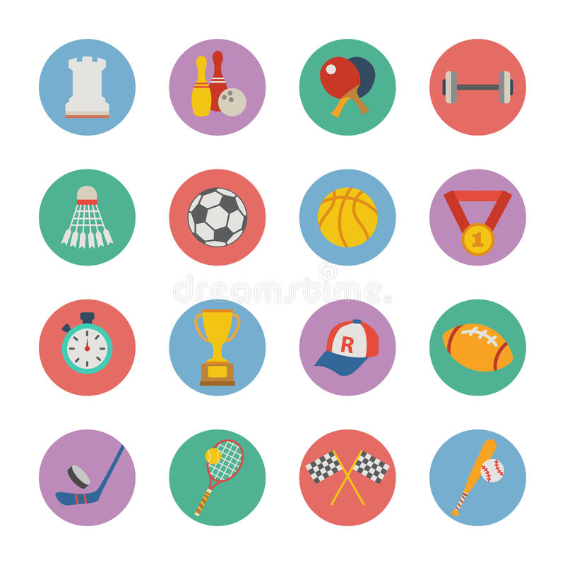 Download Sport icons stock vector. Image of racket, hockey, prize - 32924122