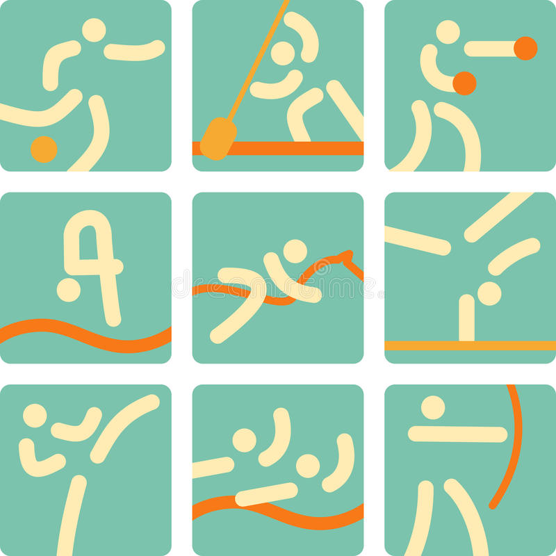 Download Sport Icons stock vector. Image of element, image, games - 31921111