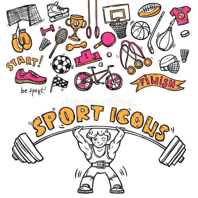 Sport ikon doodle nakreślenie ilustracja wektor