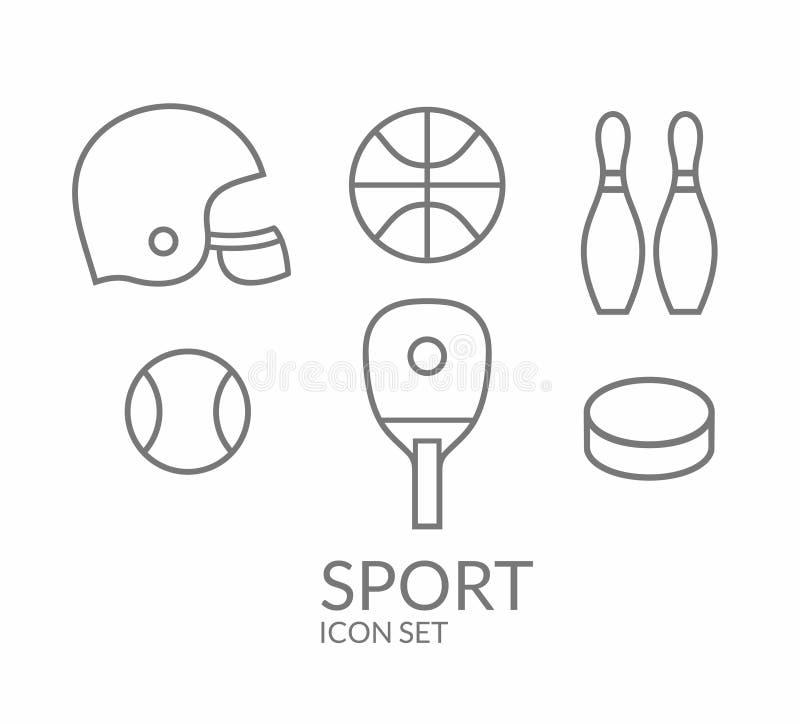 sport Ikona set kontur ilustracji