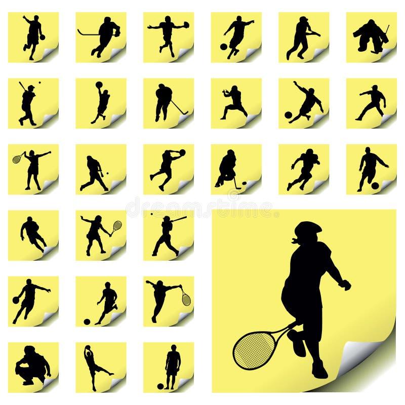 Sport-Ikonen lizenzfreie abbildung