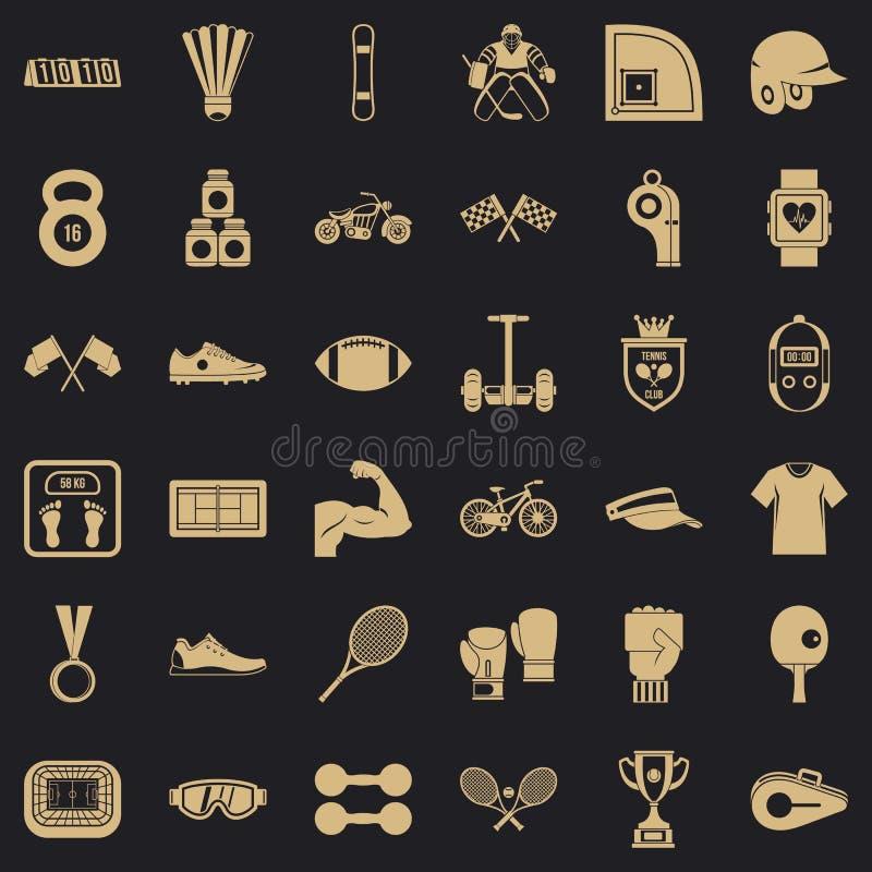 Sport ikony ustawiać, prosty styl ilustracja wektor