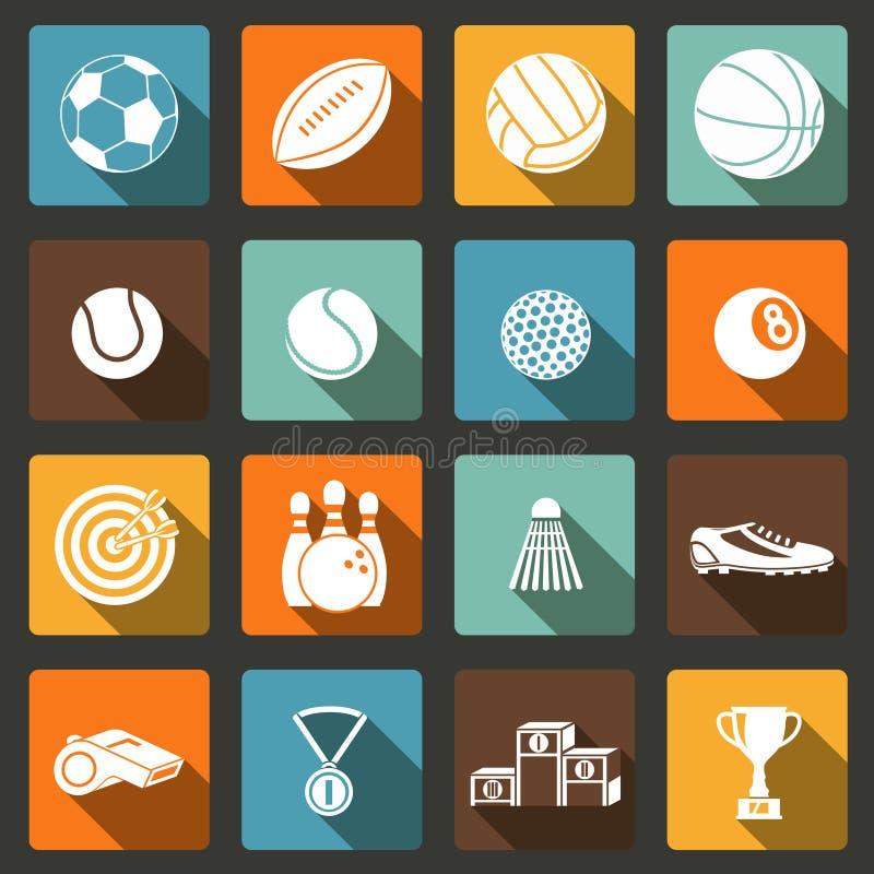 Sport ikony Ustawiać royalty ilustracja