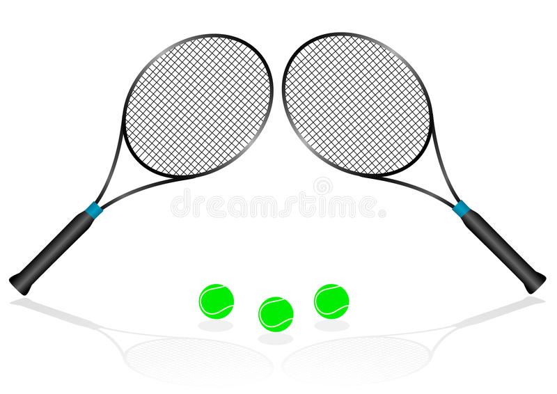 Sport Illustration With Tennis Rackets Stock Photography